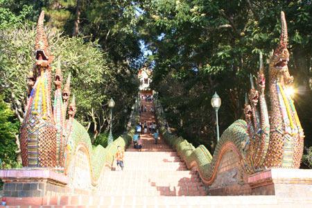 Escalier de Doi Suthep