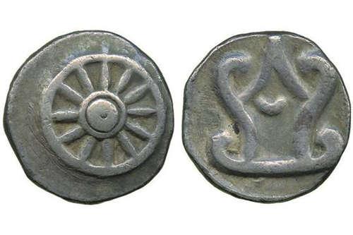 Monnaie Dvaravati datant du 4e siècle après JC