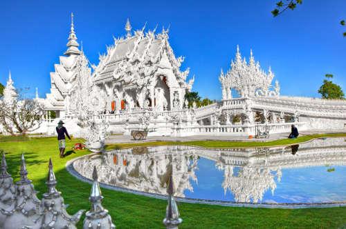 Le Temple Blanc de Chiang Mai ou Wat Rong Khun