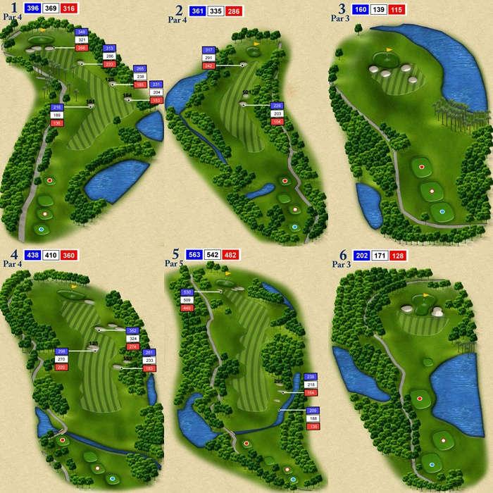 Trous 1 a 6 du Royal Chiang Mai Golf