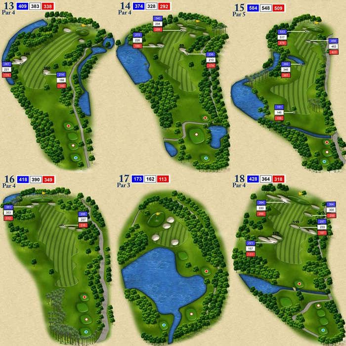Trous 13 a 18 du Royal Chiang Mai Golf