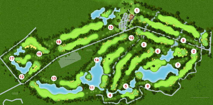 Plan du Golf Inthanon