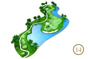 Trou 14 - Alpine Golf Chiang Mai