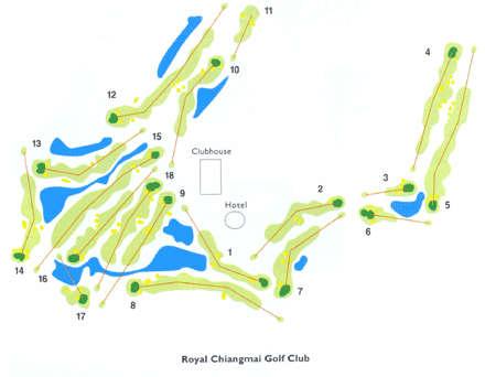 Parcours 18 trous du Royal Chiang Mai Golf