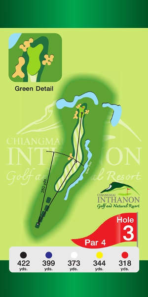 Trou Numero 3 - Chiang Mai Inthanon Golf Resort
