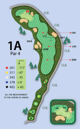Trou numero 1 - Valley Course