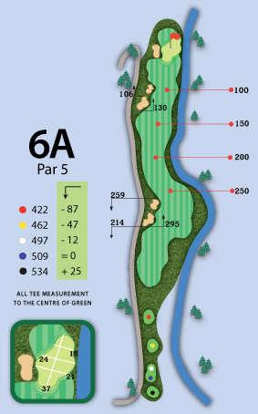 Trou numero 6 - Valley Course