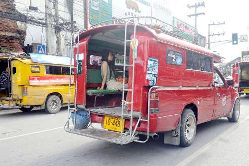 Les Songthaew de Chiang Mai - Moyen le plus économique pour se déplacer en ville
